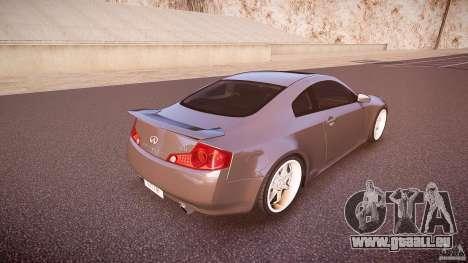 Infiniti G35 v1.0 für GTA 4 obere Ansicht
