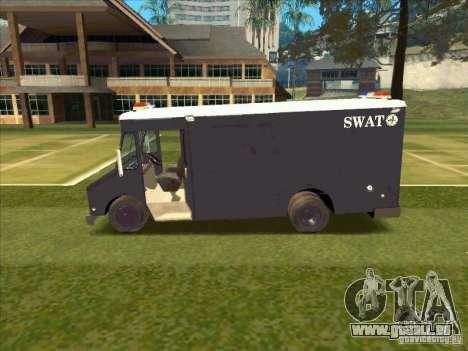 Swat Van from L.A. Police für GTA San Andreas zurück linke Ansicht