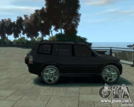 Mitsubishi Pajero pour GTA 4 Vue arrière
