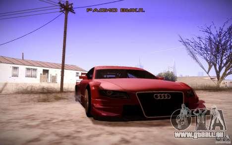 Audi A4 DTM pour GTA San Andreas vue intérieure