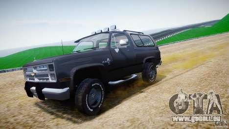 Chevrolet Blazer K5 Stock pour GTA 4 vue de dessus