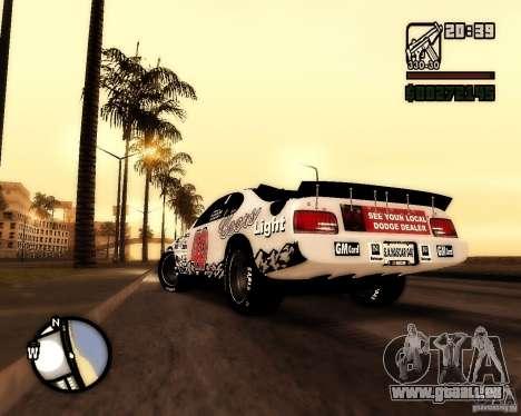 Dodge Nascar Beers Light 40 pour GTA San Andreas laissé vue