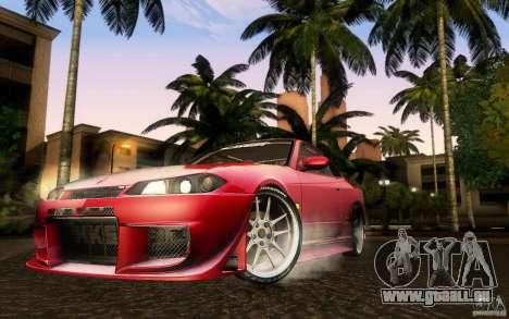 Nissan Silvia S15 Drift Style für GTA San Andreas zurück linke Ansicht