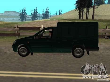 VAZ-2190-Ferse für GTA San Andreas zurück linke Ansicht