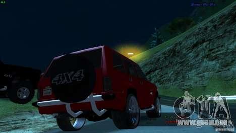 FBI Huntley 4x4 für GTA San Andreas linke Ansicht