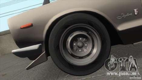 Nissan Skyline 2000 GT-R Coupe für GTA San Andreas Innenansicht