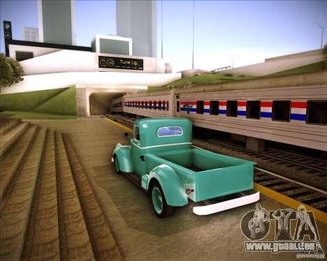Shubert pickup pour GTA San Andreas sur la vue arrière gauche