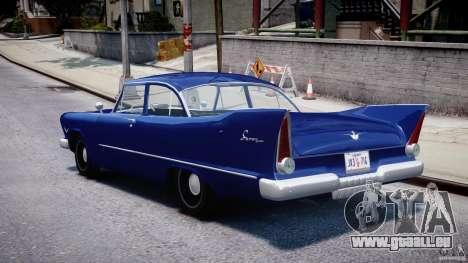 Plymouth Savoy Club Sedan 1957 für GTA 4 hinten links Ansicht