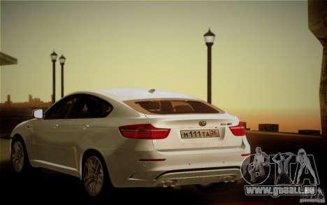 BMW X6M E71 pour GTA San Andreas vue de dessus