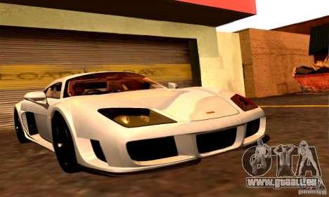Noble M600 Final pour GTA San Andreas sur la vue arrière gauche