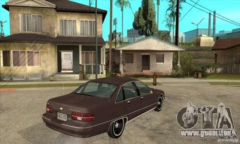 Chevrolet Caprice 1991 pour GTA San Andreas vue intérieure