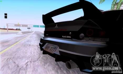 Mitsubishi Lancer EVO VIII BlackDevil pour GTA San Andreas vue de droite