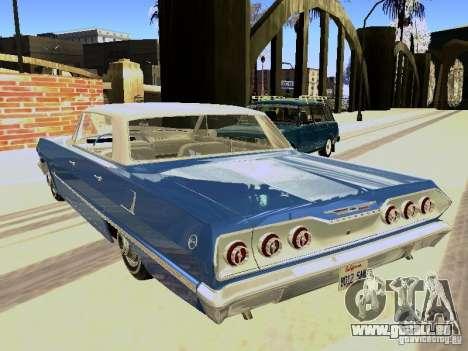 Chevrolet Impala 4 Door Hardtop 1963 pour GTA San Andreas vue de droite