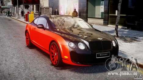 Bentley Continental SS 2010 Le Mansory [EPM] pour GTA 4 Vue arrière