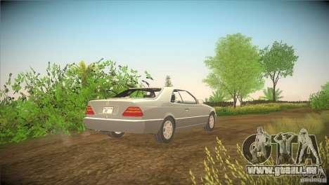 Mercedes Benz 600 SEC für GTA San Andreas zurück linke Ansicht