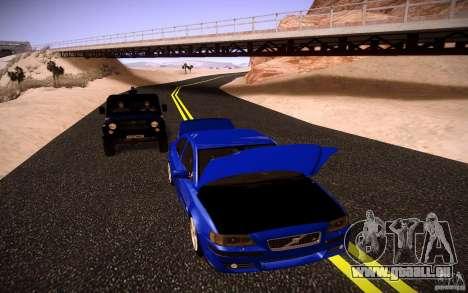 Volvo S 60R pour GTA San Andreas vue intérieure