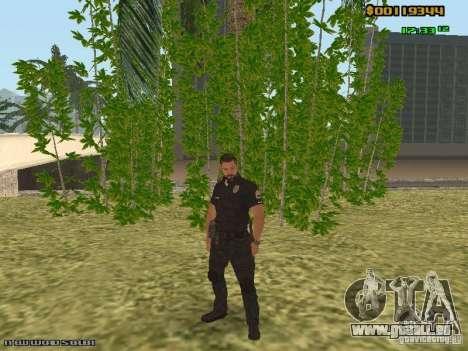 SAPD skins pour GTA San Andreas deuxième écran