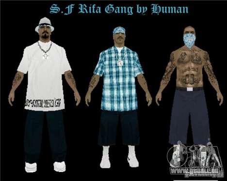 Nouveau gang The Rifa de peaux pour GTA San Andreas