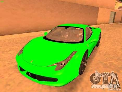 Ferrari 458 Italia für GTA San Andreas