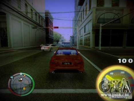 Compteur de vitesse par Centrale pour GTA San Andreas