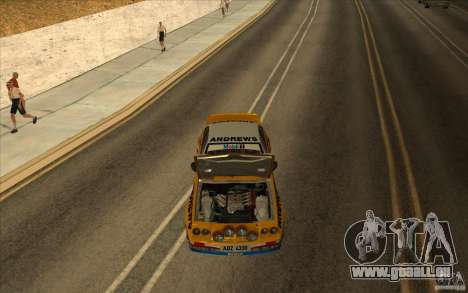 Opel Manta 400 für GTA San Andreas Innenansicht