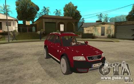 Audi Allroad Quattro v1.1 für GTA San Andreas Rückansicht