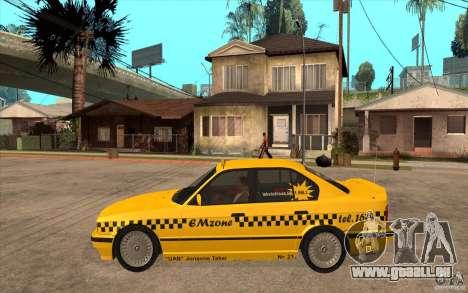 BMW 525tds E34 Taxi pour GTA San Andreas laissé vue