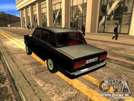 VAZ 2107 ZZ Style pour GTA San Andreas vue de droite