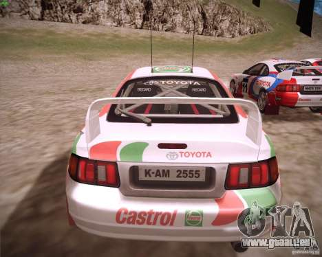 Toyota Celica ST-205 GT-Four Rally pour GTA San Andreas laissé vue