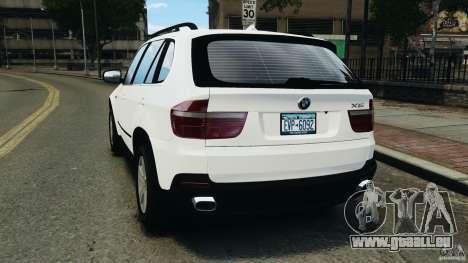 BMW X5 xDrive48i Security Plus pour GTA 4 Vue arrière de la gauche