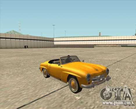 Mercedes Benz 190SL 1960 pour GTA San Andreas vue arrière