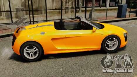 Audi R8 Spyder pour GTA 4 est une gauche