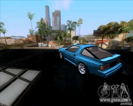 Mitsubishi Starion pour GTA San Andreas sur la vue arrière gauche