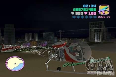 Bell 47 pour une vue GTA Vice City de la droite