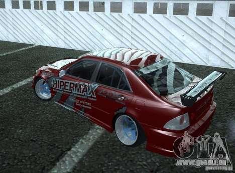 Toyota Altezza Hipermax für GTA San Andreas zurück linke Ansicht