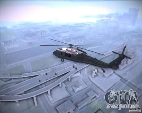 Sikorsky VH-60N Whitehawk für GTA San Andreas Rückansicht