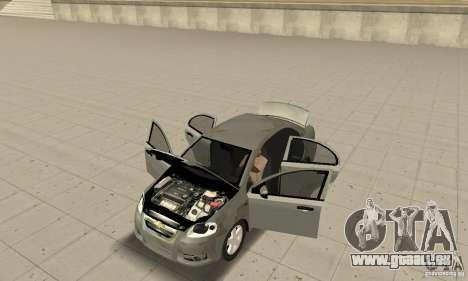 Chevrolet Aveo pour GTA San Andreas vue arrière