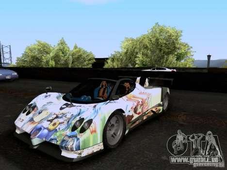 Pagani Zonda EX-R für GTA San Andreas Innenansicht