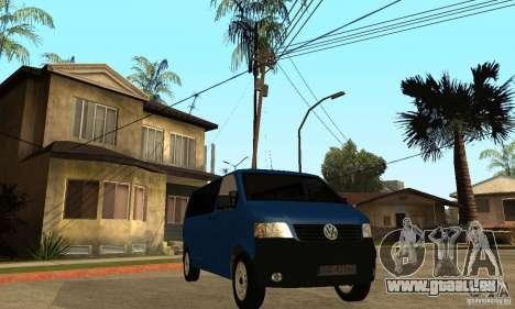 VW Transporter T5 2.5 TDI long für GTA San Andreas rechten Ansicht