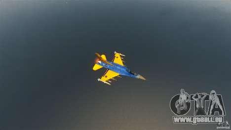 F-16C Fighting Falcon pour GTA 4 est une vue de l'intérieur
