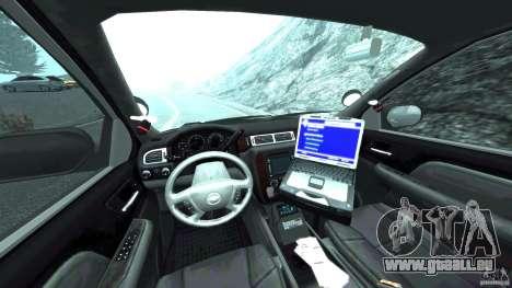 Chevrolet Tahoe Marked Unit [ELS] pour GTA 4 Vue arrière