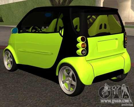 Smart Alienware pour GTA San Andreas sur la vue arrière gauche