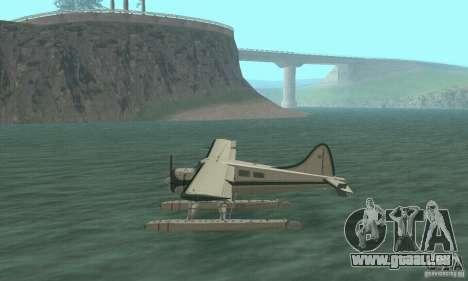 DeHavilland Beaver DHC2 pour GTA San Andreas sur la vue arrière gauche