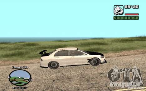 Mitsubishi Lancer Evolution 8 Carbon für GTA San Andreas