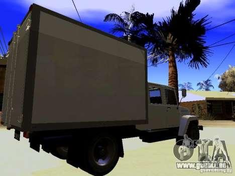 GAZ 3309 Huntsman pour GTA San Andreas laissé vue