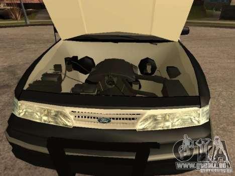 Ford Crown Victoria 1994 Police für GTA San Andreas Innenansicht
