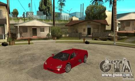 SSC Ultimate Aero Stock version für GTA San Andreas