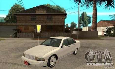 Chevrolet Caprice 1991 pour GTA San Andreas sur la vue arrière gauche