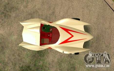 Mach 5 für GTA San Andreas Rückansicht