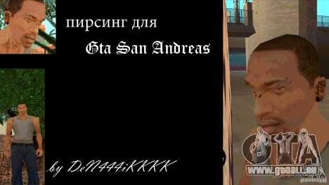 Piercing CJ mod + blanc pour GTA San Andreas
